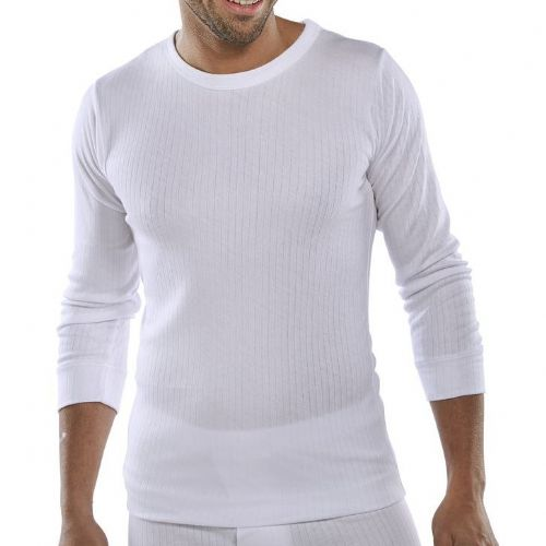 Click Thermal White Long Sleeve Vest